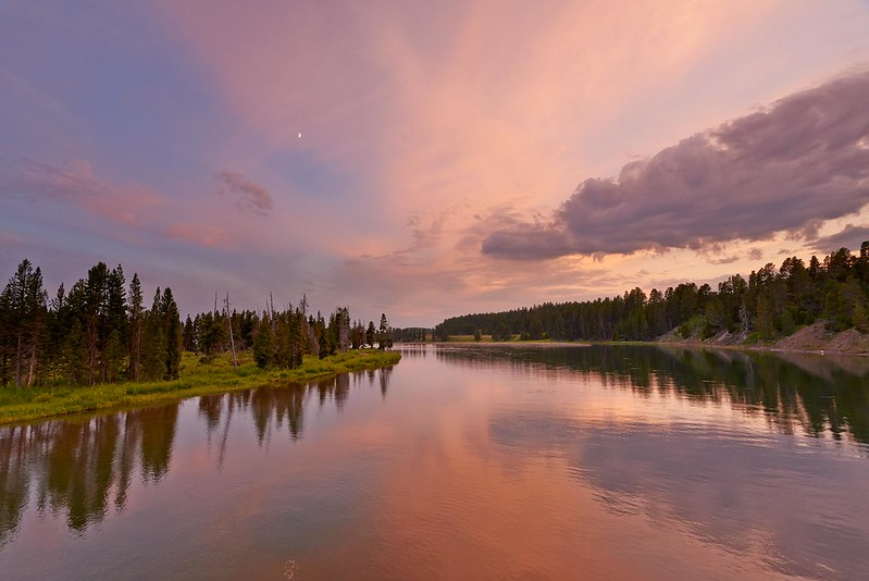 Sunset on the Yellowstone River - Yellowstone National Park