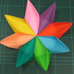 วิธีพับกระดาษเป็นถาดใส่ขนมรูปดาวแปดแฉก (Origami Eight Point Star Candy Tray) 023