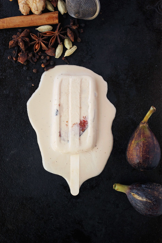 Chai Spiced Coconut Fig Popsicles