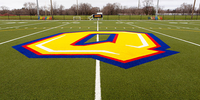 The artificial turf field at west campus is now named in honour of long-time Queen's football coaches Bill Miklas Sr. and Hal McCarney.