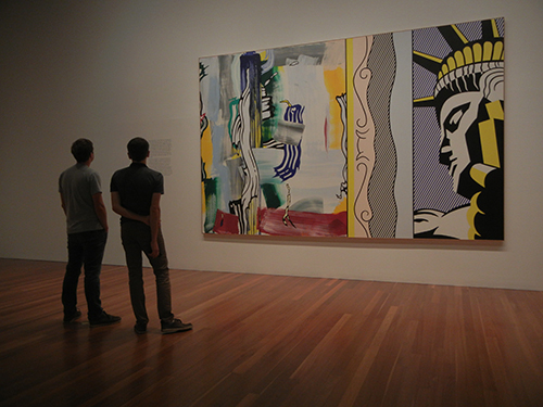 DSCN0089 _ Painting with Statue of Liberty, 1983, Roy Lichtenstein, NGA at De Young