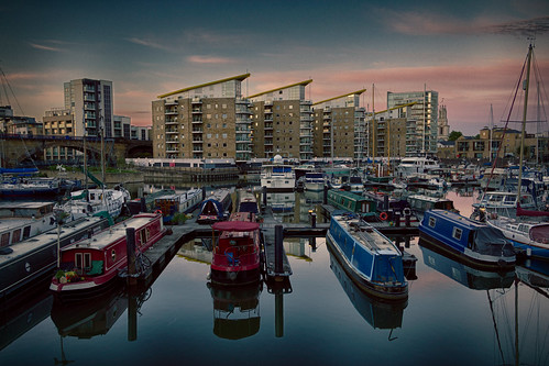 sunset england sun london alex water thames marina canon river eos boat wolf britain united great houseboat kingdom down basin m hdr limehouse towerhamlets 60d