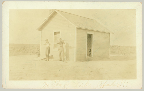 RPPC Two men and a shed