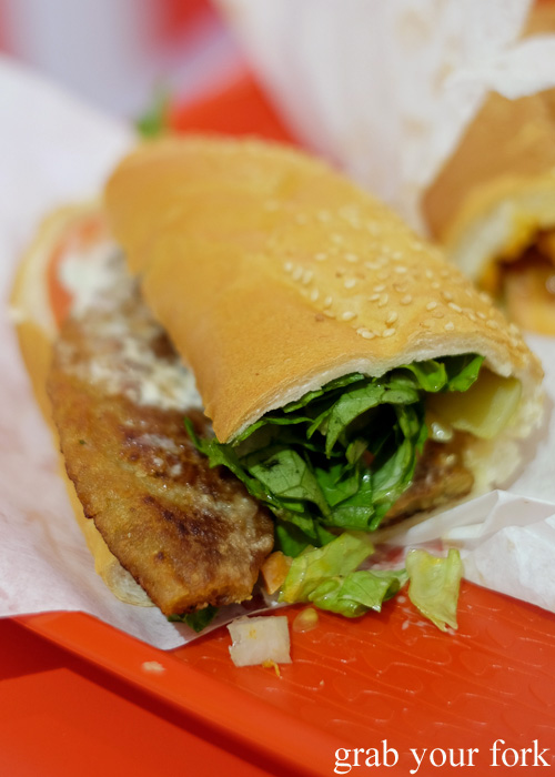 Beef cutlet sandwich at Aria Persian Fast Food, Merrylands