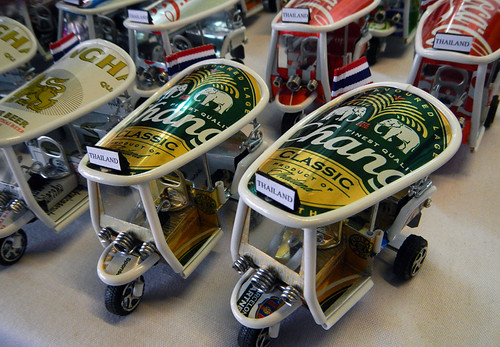 Beer Can Tuktuks in in Bangkok's weekend Chatuchak Market