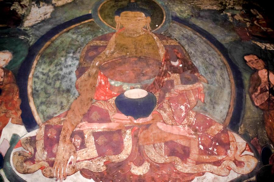 Роспись стен Шей гомпы © Kartzon Dream. Монастыри Ладакха (Монастыри малого Тибета) - авторские путешествия, авторские туры в Ладакх, тревел фото, тревел видео, фототуры