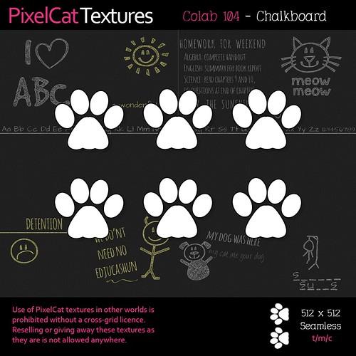 PixelCat Textures - Colab 104 - Chalkboard