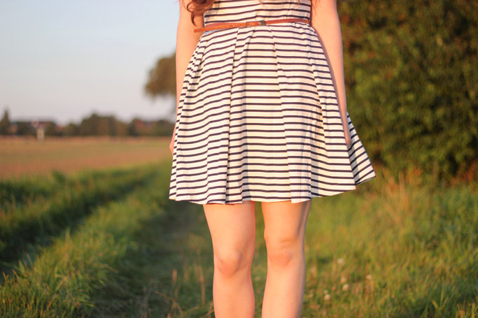 Easy striped dress oasap - streifenkleid im sommer - striped Al-line dress
