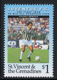 juventus the first team to win all europe cups stamp 7 - st. vincent & the grenadines