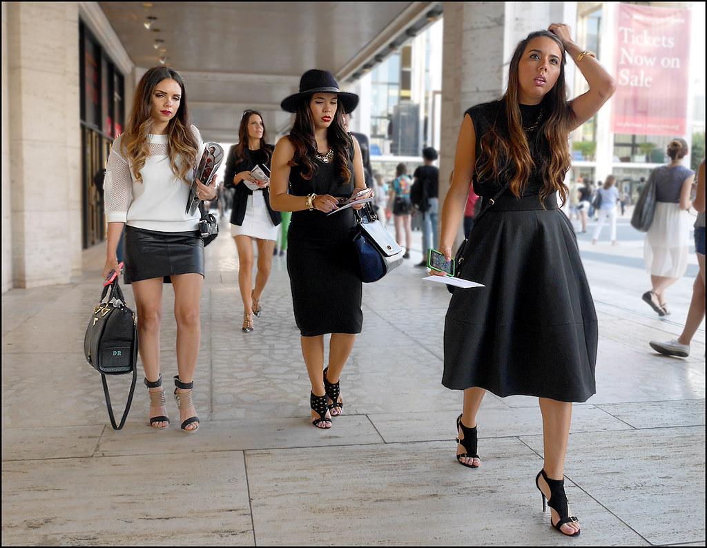 FW9-14  3 w3 black dresses black leather mini white top black heeled sandals