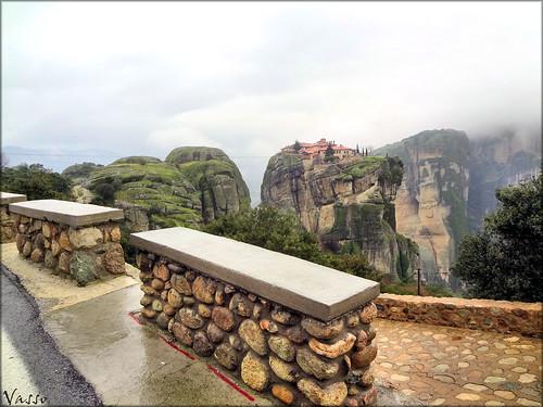 view holy monastery trinity meteora kalampaka
