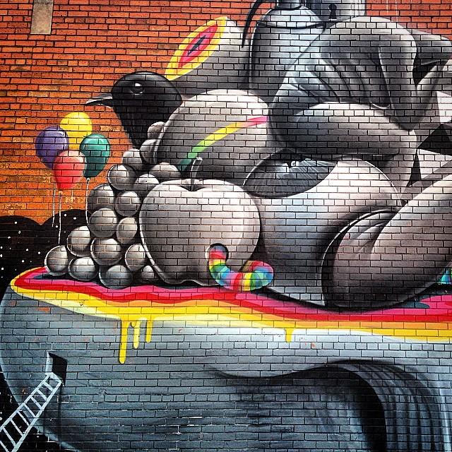 #detroit #graffiti #streetart #rainbow