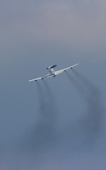 aerobatics, aviation, airplane, wing, vehicle, air travel, takeoff, flight, air show,
