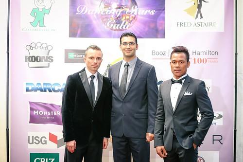 Fred Astaire Studio dancers Sevrin Szapiaczan, Kinan Mihyar and CJ Sibonga