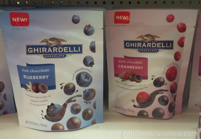 Ghirardelli Dark Chocolate Blueberry and Dark Chocolate Cranberry