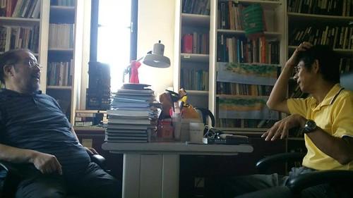 (左)丘延亮、(右)陳永龍。攝影:林倩如。