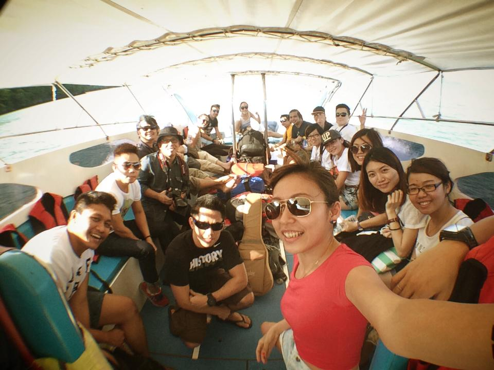 wefie on boat ride from Pak Bara | Hat Yai, Thailand