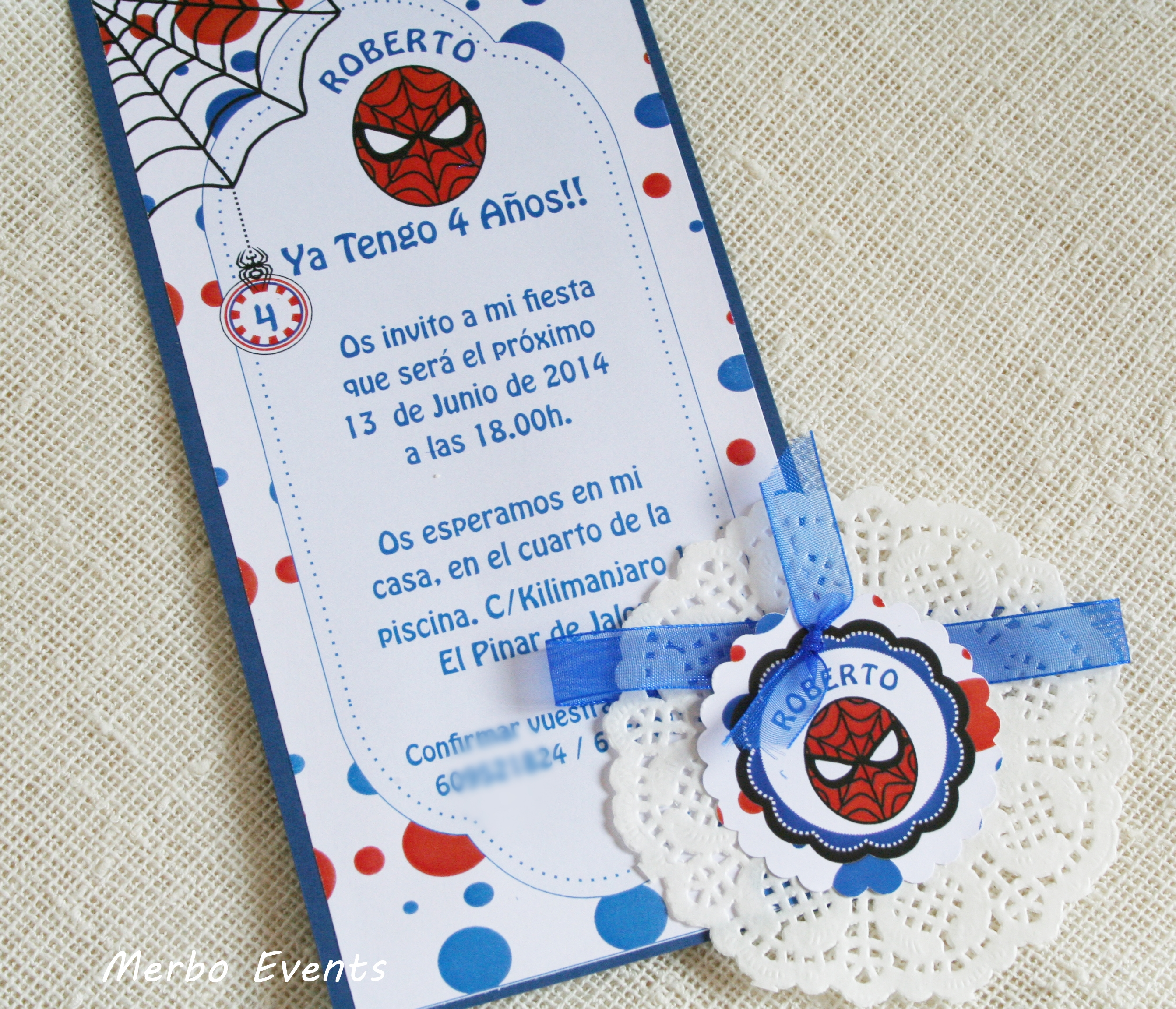 Spiderman party Merbo Events