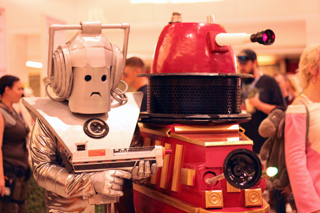 Cyberman and Dalek Cosplay