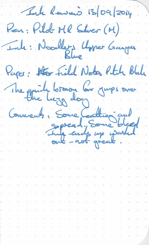 Noodler's Upper Ganges Blue - Field Notes
