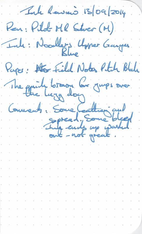 Noodler's Upper Ganges Blue - Field Notes