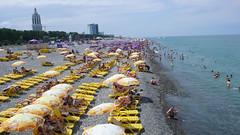 Plaża w cetrum Batumi.