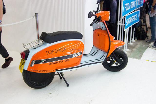 Topshop Unique SS15 orange scooter