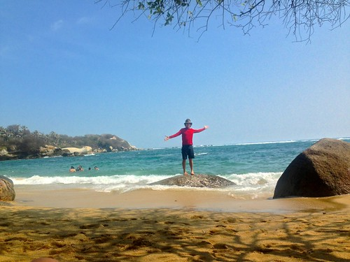well... other than myself... a quiet morning in La Aranilla beach, Tayrona