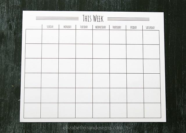 Weekly Calendar 2