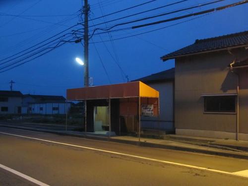 金沢競馬場の近くの加賀八田バス停