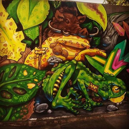 Mamute hunters  GAF Graffiti arte feira  📷 @one_kbca  Junto com @sanktattoo e @iel_estacio  #hunters #frog #sapos #bigod #novadezordemcrew #abp #academiabrasileiradepersonagens #eskis #eskisteam #feiradesantana #gaf