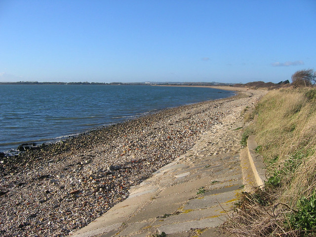The south coast of Thorney Island