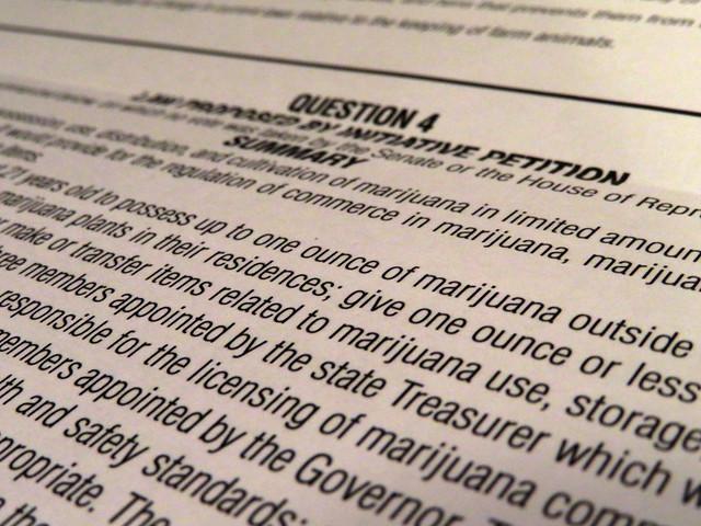 legalization of marijuana on Massachusetts ballot (2016)