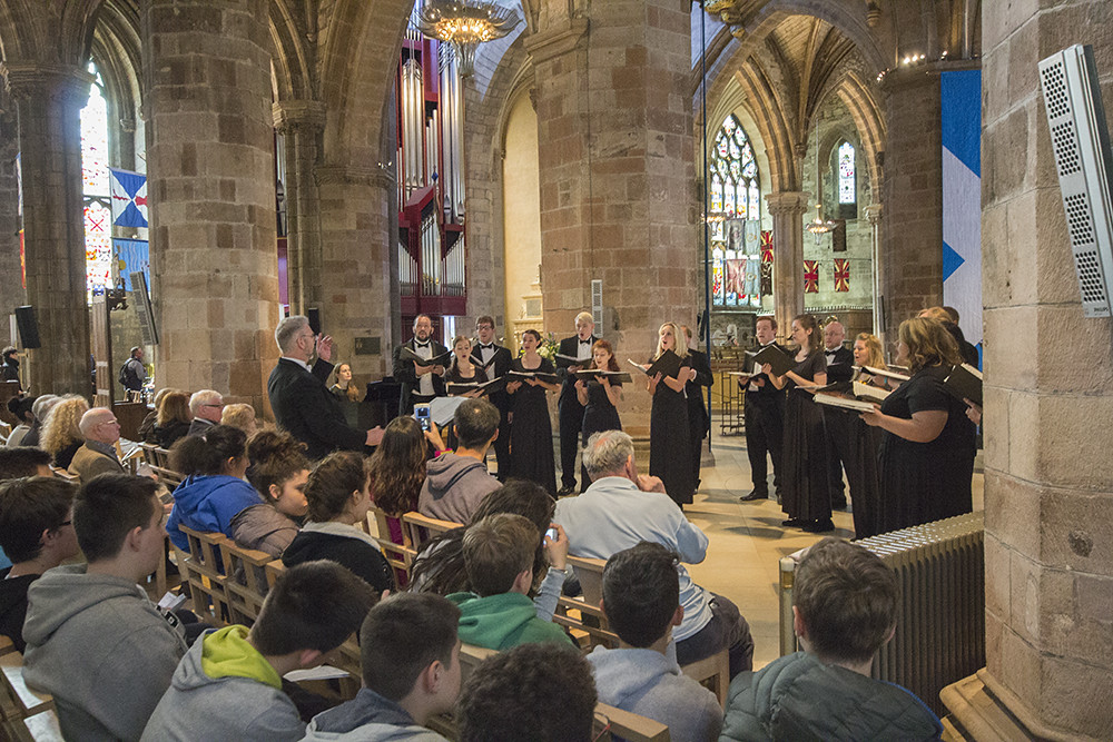 Idaho State University Chamber Choir performs in St. Giles Cathedral