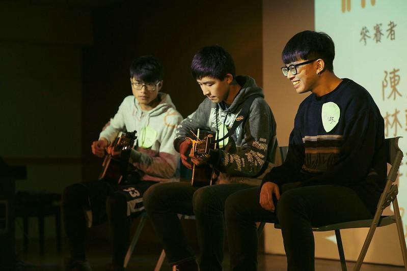 師韻獎提供表演者展現自己的舞台,也是吉他社新進社員籌辦大型活動的機會。圖/林効賢攝。