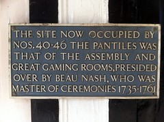 Photo of Richard 'Beau' Nash grey plaque