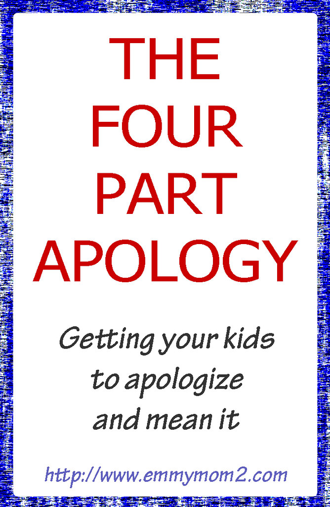 Teaching kids to apologize