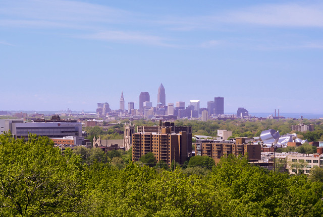 Cleveland Skyline from the James A. Garfield Monument