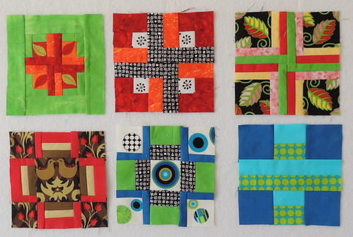First 6 blocks for the Opportunity Quilt