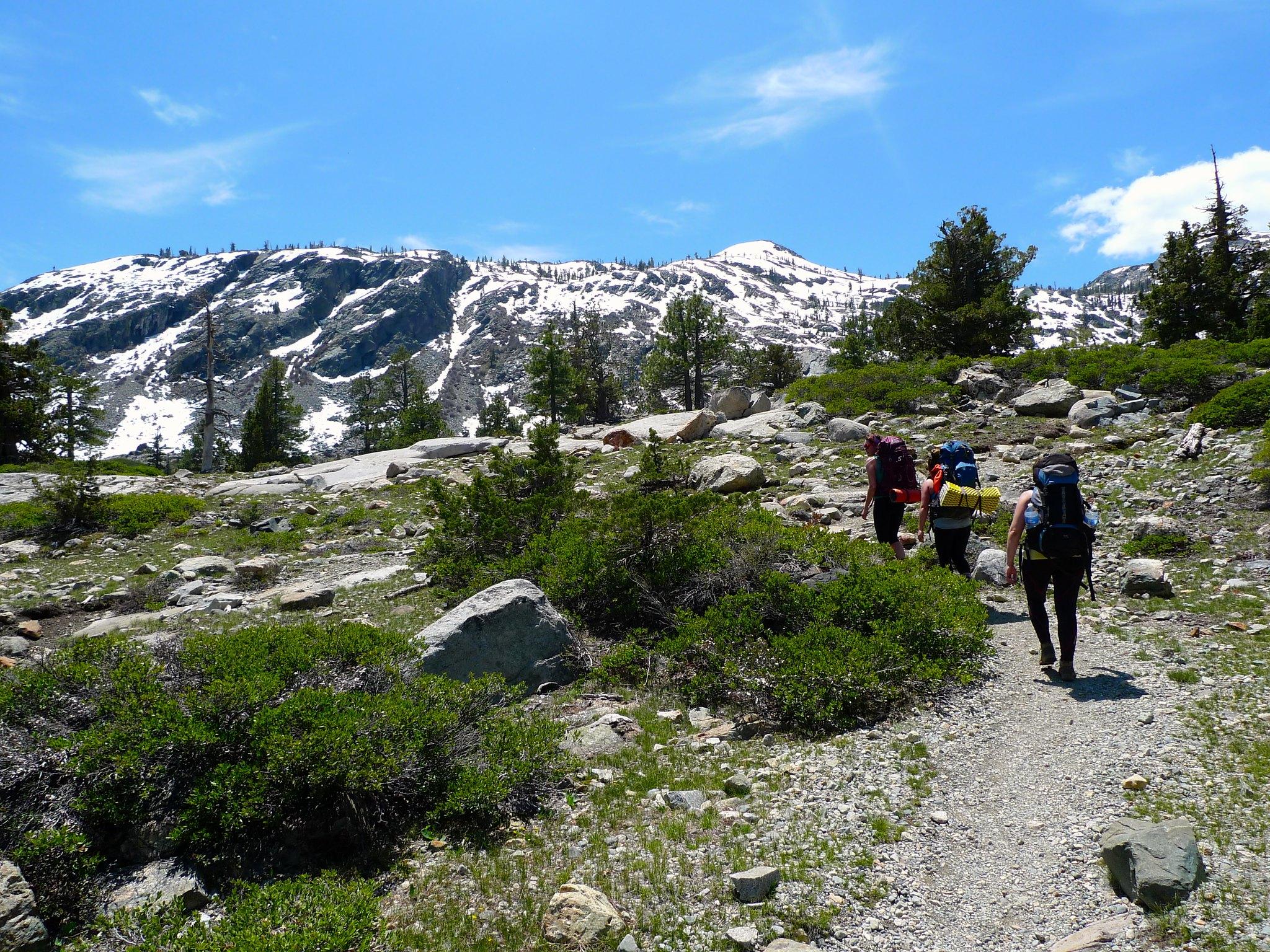 Heading up Glen Alpine Trail
