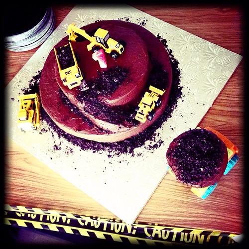 #birthday #cake #boy #dirt #heavyequipment #love