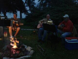 Strummin' around the campfire