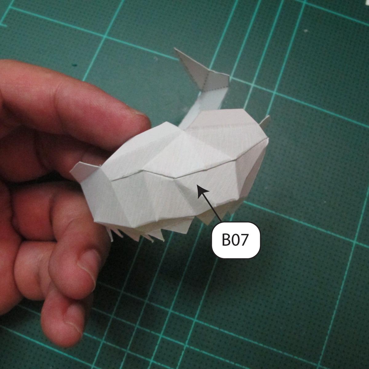 วิธีทำโมเดลกระดาษของเล่นคุกกี้รัน คุกกี้รสพ่อมด (Cookie Run Wizard Cookie Papercraft Model) 003