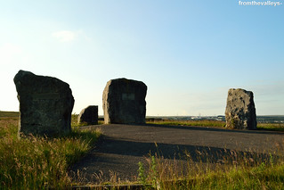 Image of Aneurin Bevan Memorial Stones. southwales tredegar aneurinbevan sirhowyvalley sirhowy memorialstones southwalesvalleys ebbwvalley