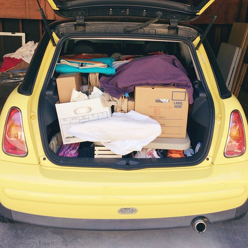 mini cooper packed for a craft fair! Vitamini