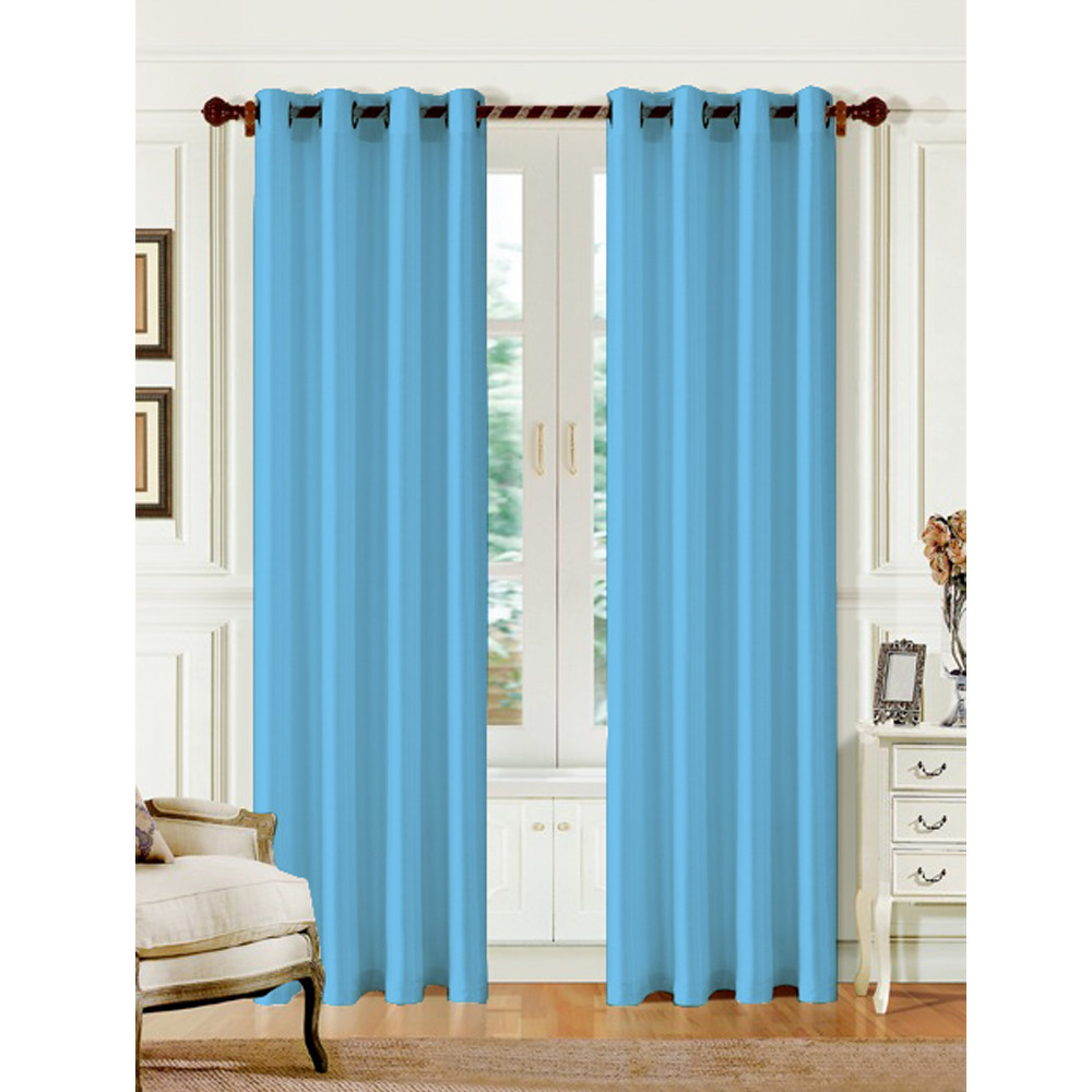 Faux Silk Energy Saving Window Curtain Panel Metal Grommets 54 X 84 20 Colors Ebay
