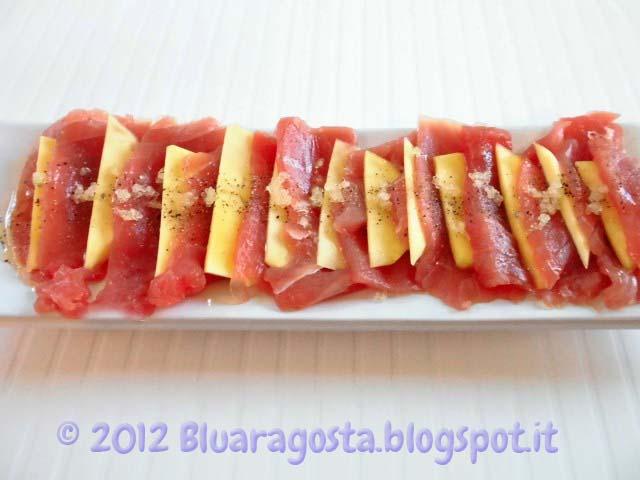 02-millefoglie di tonno fresco, lime e fingerlime