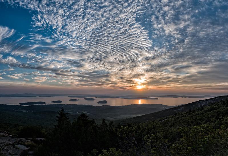 Sunrise panorama - Cadillac Mountain, Acadia National Park