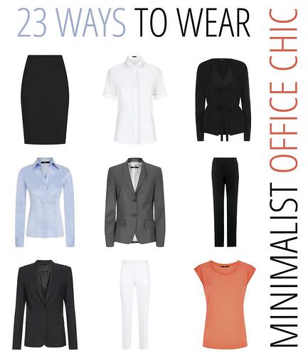 23 Ways to Wear - Minimalist Office Chic Wardrobe