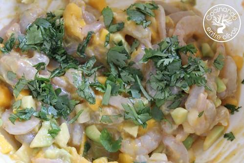 Cebiche de gambas www.cocinandoentreolivos.com (2)